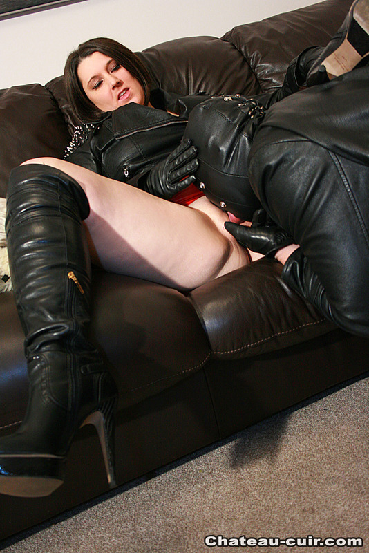 Xxx leather jacket porn pic