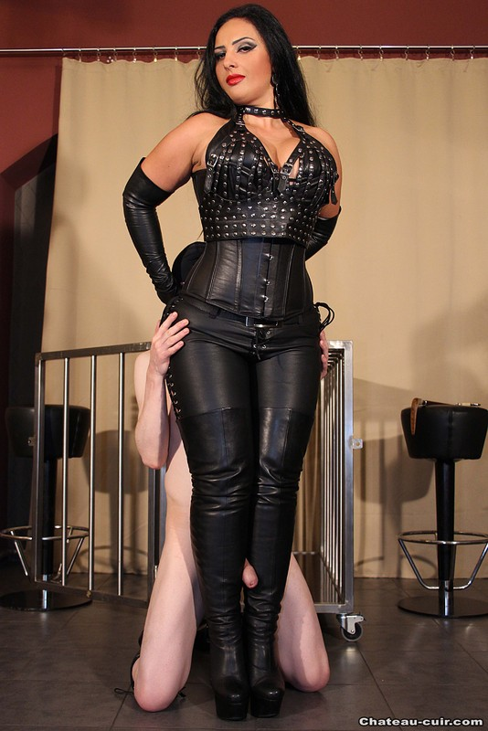leather skirt porn