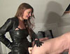 Leather girls strapon revenge  misha cross and candy alexa use a guy s arse. Misha Cross and Candy Alexa use a guy\'s ass.