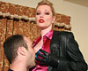 Leather secretary holly in charge  holly kiss makes her male boss cumshot elegant. Holly Kiss makes her male boss ejaculate hard.